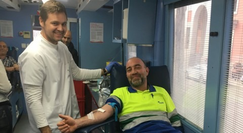 empleados Aqualia participan primera Jornada Donación voluntaria Sangre