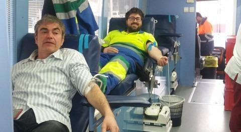 Donación sangre trabajadores Aqualia Lleida