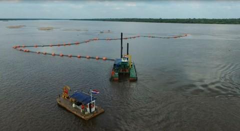Se retiran 960.000 m3 sedimentos río Paraguay mantener navegabilidad
