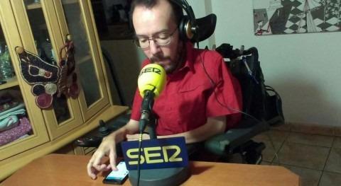 Pablo Echenique, candidato de Podemos al Gobierno de Aragón