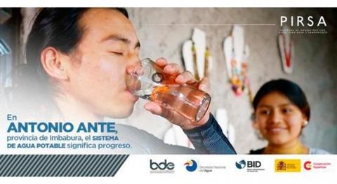 176.000 personas se benefician programa saneamiento y agua Ecuador