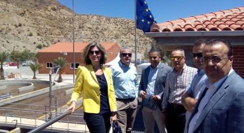 Ayuntamiento y Diputados Regionales visitan obra proyecto LIFE RAMSES Blanca (Murcia)