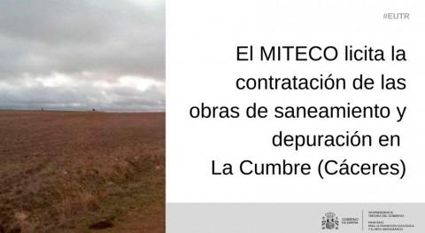 MITECO licita contratación obras saneamiento y depuración Cumbre, Cáceres