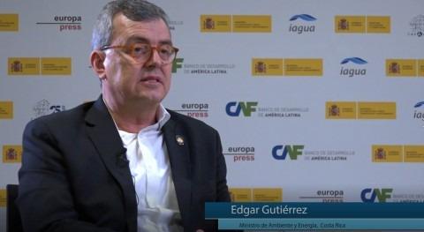 "Edgar Gutiérrez: "" 99% población Costa Rica tiene agua potable"""