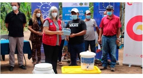 Equipos protección COVID-19 y recursos potabilización agua Salvador