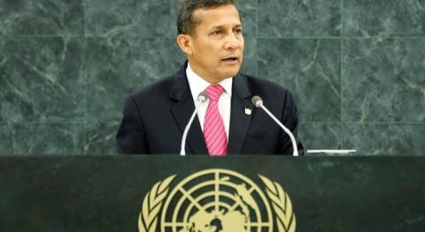 El presidente de Peru, Ollanta Humala, Foto de archivo :ONU/Amanda Voisard