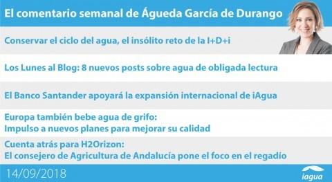 apoyo Santander iAgua y cuenta atrás H2Orizon, lo mejor semana iAgua