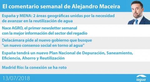 Nuevo newsletter AGRO y nuevo Plan Depuración España, lo mejor semana iAgua