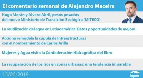 reutilización Latinoamérica y mujeres Ebro, lo mejor semana iAgua