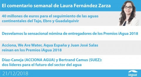 ganadores Premios iAgua y nuevo CEO Suez, lo mejor semana