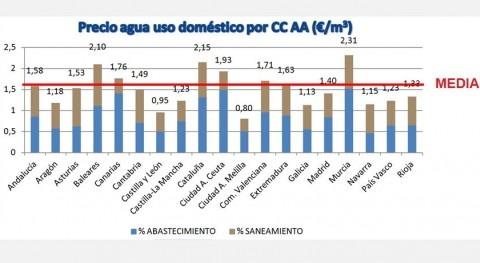 Fuente: El agua en España Estudio 2013 AEAS-AGA