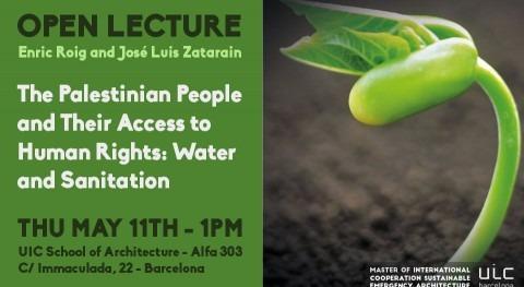 Conferencia FPSC Campus UIC BCN acceso Agua y Saneamiento Palestina
