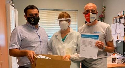 Xylem distribuye más 100.000 protectores faciales empleados todo mundo