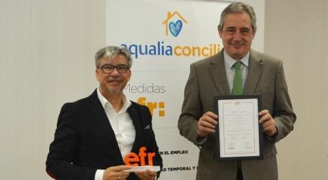 Aqualia, primer operador nacional agua certificar Conciliación sello efr
