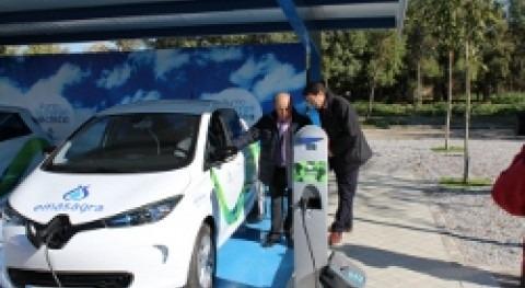 vehículos eléctricos Emasagra se recargarán electricidad que genera EDAR