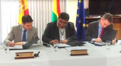 Bolivia y España firman convenio poner marcha programa agua y saneamiento