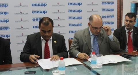 Firma del convenio entre Essap y la Municipalidad de Lambaré