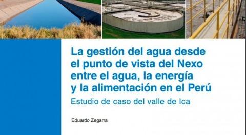 gestión agua punto vista Nexo agua, energía y alimentación Perú