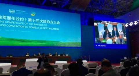 Salvador llevó voz América Latina y Caribe cumbre mundial desertificación
