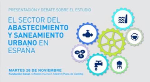 """Presentación y debate estudio """" sector abastecimiento y saneamiento urbano España"""""""