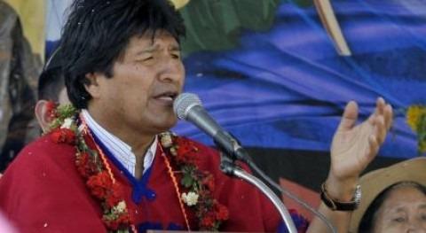 Evo Morales inaugura programa Mi Riego departamento Potosí