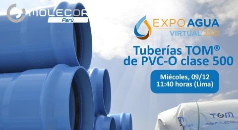 Molecor Perú participa Expo Agua Perú Virtual ponencia Tuberías TOM® PVC O