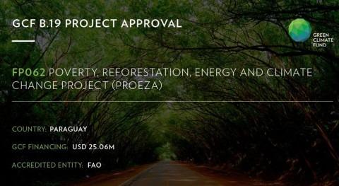 Proyecto PROEZA: Paraguay apuesta combatir cambio climático, hambre y pobreza