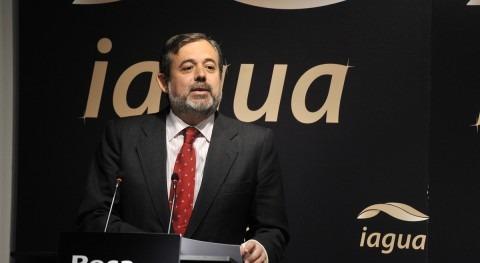 Federico Ramos de Armas en la entrega de los Premios iAgua 2014
