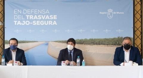 López Miras defiende acueducto Tajo-Segura y pide unidad comunidades afectadas