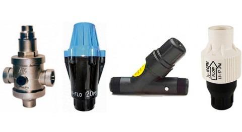 Reguladores presión riego