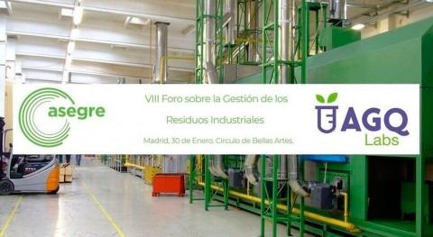 AGQ Labs Medio Ambiente patrocina VIII Foro Gestión Residuos Industriales