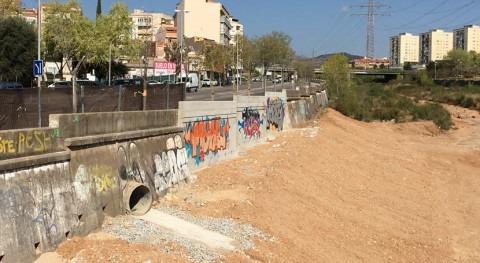 Agencia Catalana Agua finaliza reparación muro arroyo Arenas
