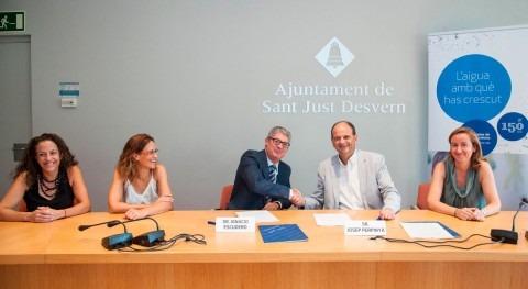 Sant Just garantiza agua quien no pueda pagar gracias acuerdo Aigües Barcelona
