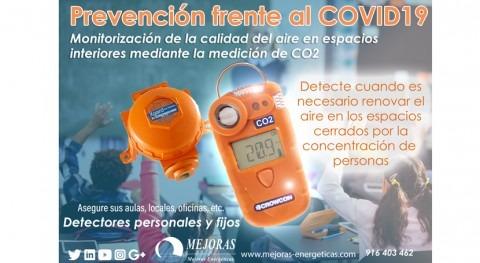Prevención frente al COVID-19 mediante medición CO2