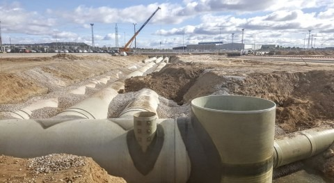 Tanque retención y laminación PRFV Parque proveedores FASA Valladolid