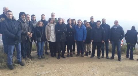 Visita obras restauración fluvial Arga Funes, Navarra, inundaciones