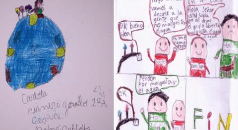 Carlota Aglaee y Gamiliel Poleo: ganadores primer concurso dibujos e historietas