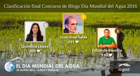 Juan José Salas, 331 iAgua Likes, gana III Concurso Blogs Día Mundial Agua
