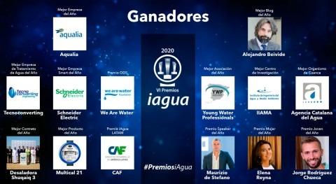 Premios iAgua 2020 muestran unión sector enfrentar futuro