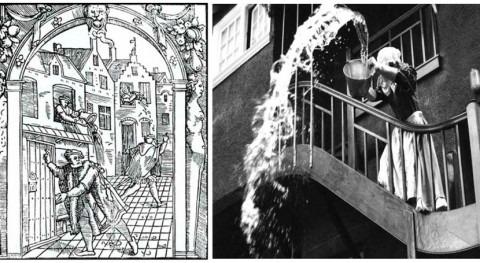 'Gardy loo' (¡Agua va!) o insana gestión agua residual Edimburgo siglo XVIII
