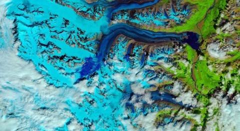 calor fundió nieve glaciar Canadá tan sólo 4 días