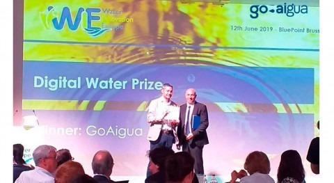 GoAigua ganadora premio Digital Water Prize 2019 Water Europe