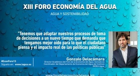 """Gonzalo Delacámara: """"Debemos conectar objetivos política agua políticas públicas"""""""