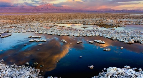 Salar Atacama, Chile, vista satélite