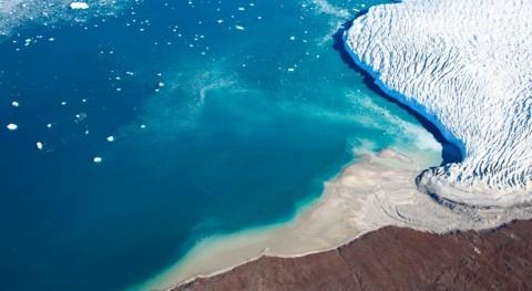 Constatado retroceso 200 metros año glaciar Qaleraliq Groenlandia