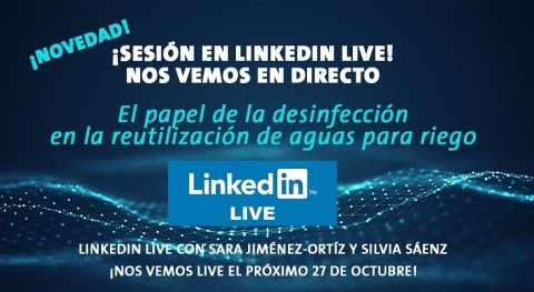 Grundfos inaugura sesiones LinkedIn Live hablando reutilización agua riego
