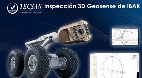 Inspección 3D Geosense IBAK: información tridimensional redes colectores