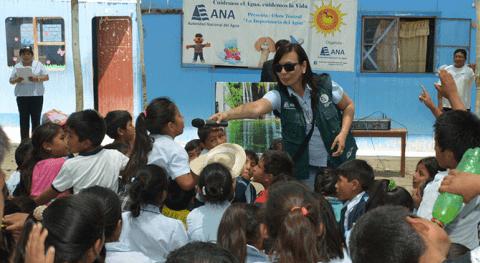 Seiscientos niños se comprometen ser 'Guardianes Agua' Ica motivados ANA