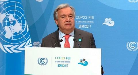 Guterres pide más ambición y liderazgo lucha cambio climático