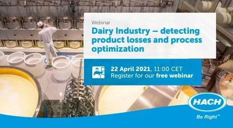 Webinar: Industria láctea, detección pérdida producto y optimización procesos